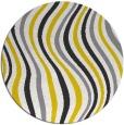 rug #554101 | round yellow abstract rug