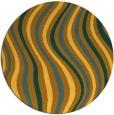 rug #554105 | round light-orange stripes rug