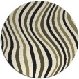 rug #554109 | round black abstract rug