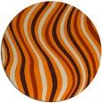 rug #554117 | round orange stripes rug