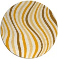 rug #554137 | round light-orange stripes rug