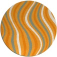 rug #554145 | round light-orange stripes rug