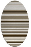 rug #556617 | oval beige stripes rug
