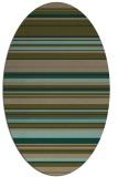 rug #556737   oval brown popular rug