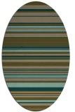 rug #556738 | oval stripes rug