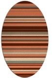 rug #556817 | oval orange stripes rug