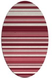 rug #556830 | oval stripes rug
