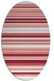 rug #556837 | oval white stripes rug