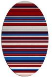 rug #556857 | oval red stripes rug
