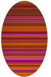 rug #556881 | oval red-orange stripes rug