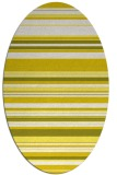 rug #556893 | oval white stripes rug