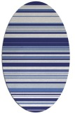 rug #556897 | oval white stripes rug