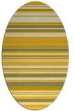rug #556905 | oval yellow rug