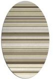 rug #556909 | oval white stripes rug
