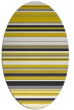 rug #556917 | oval white stripes rug