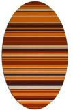 rug #556936 | oval stripes rug