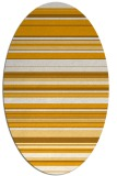 rug #556953 | oval light-orange stripes rug