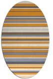 rug #556965 | oval light-orange stripes rug