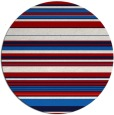 rug #557561 | round red stripes rug