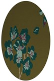 rug #560257 | oval mid-brown natural rug