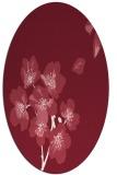 rug #560349 | oval pink natural rug