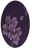 rug #560369 | oval purple rug