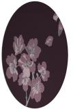 rug #560373   oval purple natural rug