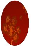 rug #560381 | oval orange natural rug