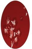 rug #560385 | oval red natural rug