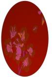 rug #560389 | oval red rug