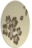 rug #560429 | oval yellow rug