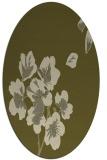 rug #560469 | oval light-green rug