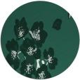 rug #560973 | round blue-green rug