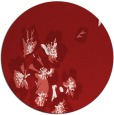 rug #561089 | round red natural rug