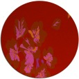 rug #561093 | round red rug