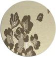 rug #561133 | round yellow rug