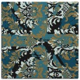 rug #561565 | square brown abstract rug
