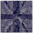 rug #561633 | square blue-violet damask rug