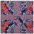 rug #561637 | square blue-violet retro rug