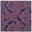rug #561641 | square blue-violet damask rug
