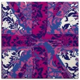 rug #561649 | square blue-violet damask rug