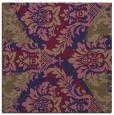 rug #561653 | square blue-violet damask rug