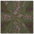 rug #561681 | square green retro rug