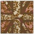 rug #561689 | square brown abstract rug