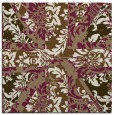 rug #561697 | square mid-brown abstract rug