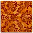 rug #561733 | square orange damask rug