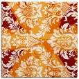 rug #561737 | square orange damask rug