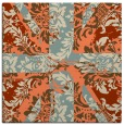 rug #561741 | square orange abstract rug