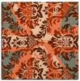 rug #561745 | square orange retro rug