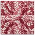 rug #561757 | square pink damask rug